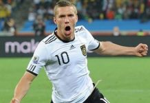 Germany v Australia: Mannschaft's Lukas Podolski is keeping his feet on the ground - Lucas Podolski