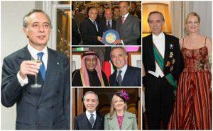 L'ambasciatore in carica Pasquale Terracciano con moglie e alcuini illustri incontri diplomatici