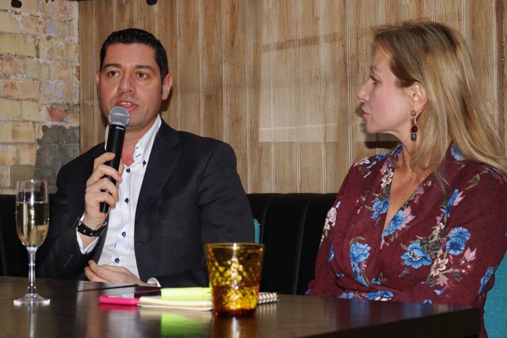 Stefano Potorti, CEO della Sagitter One e Debora Bonetti, corrispondente in Regno Unito de 'Il Giorno'