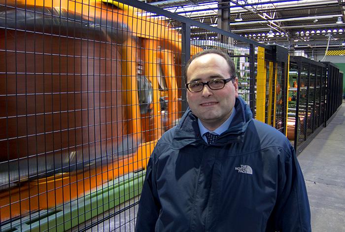 Maurizio Bragagni in una delle sue fabbriche Tratos