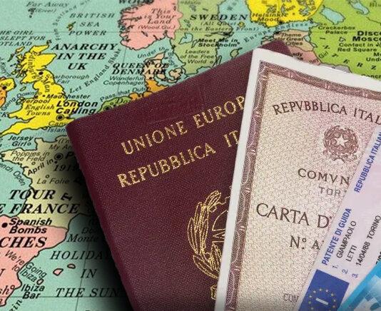 passaporto carte di identita' italoeuropeo londononeradio